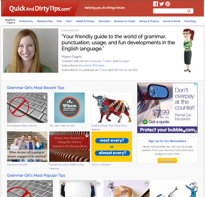 Quick and Dirty Tips – Grammar Girl