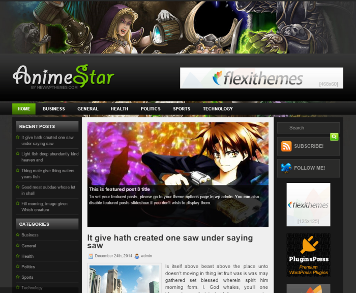 The Best Nerdy WordPress Themes to Satisfy Your Inner Geek - AnimeStar