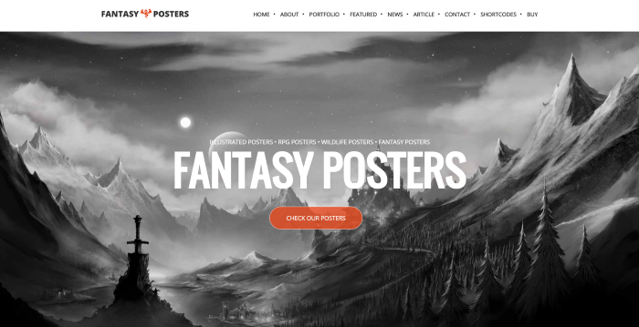 The Best Nerdy WordPress Themes to Satisfy Your Inner Geek - Fantasy Posters 2