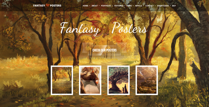 The Best Nerdy WordPress Themes to Satisfy Your Inner Geek - Fantasy Posters