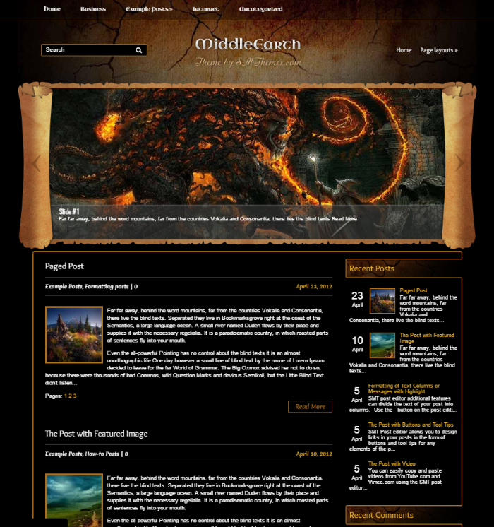 The Best Nerdy WordPress Themes to Satisfy Your Inner Geek - MiddleEarth